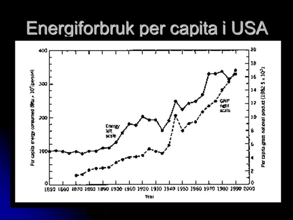 Energiforbruk per capita i USA
