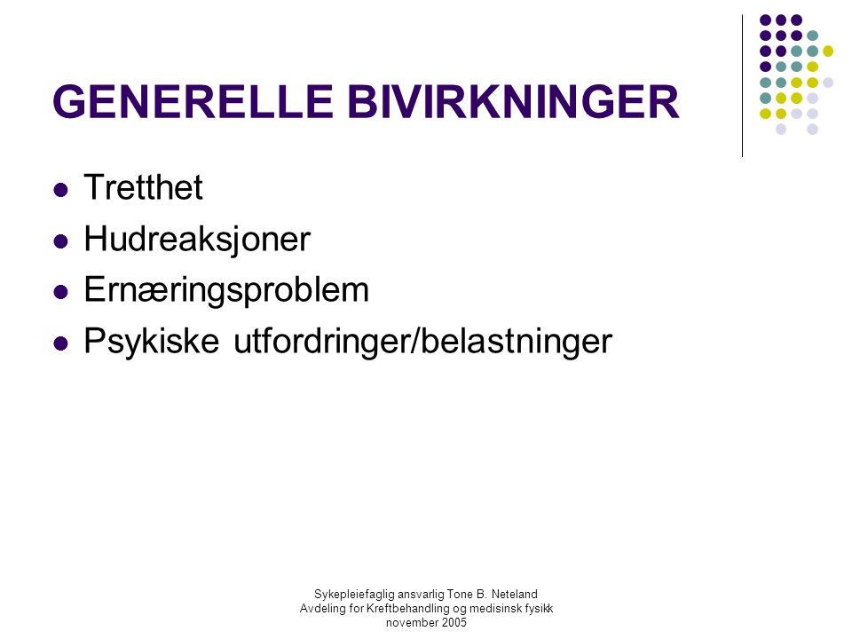 GENERELLE BIVIRKNINGER