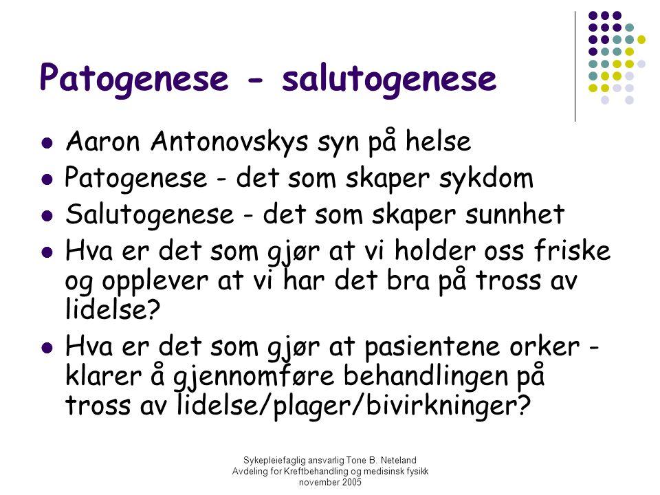 Patogenese - salutogenese