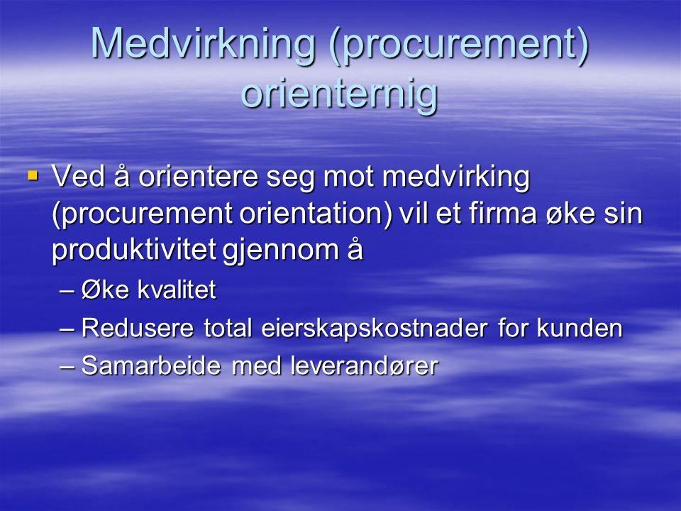 Medvirkning (procurement) orienternig