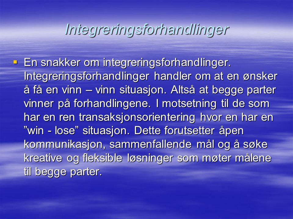 Integreringsforhandlinger