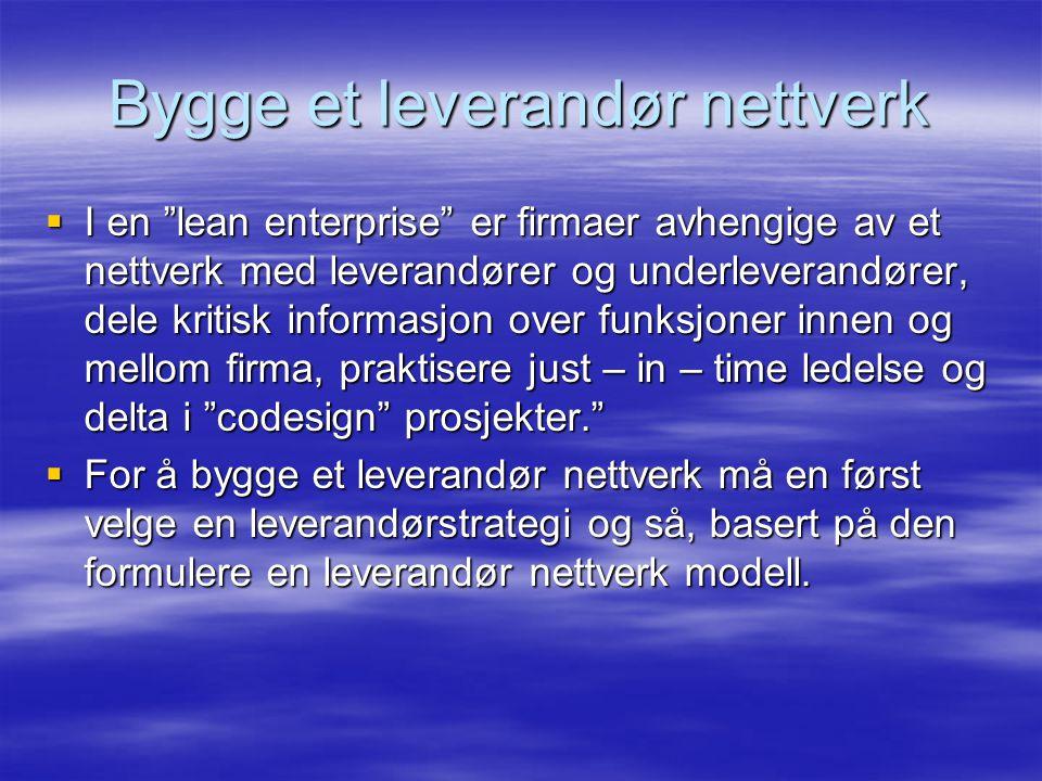 Bygge et leverandør nettverk
