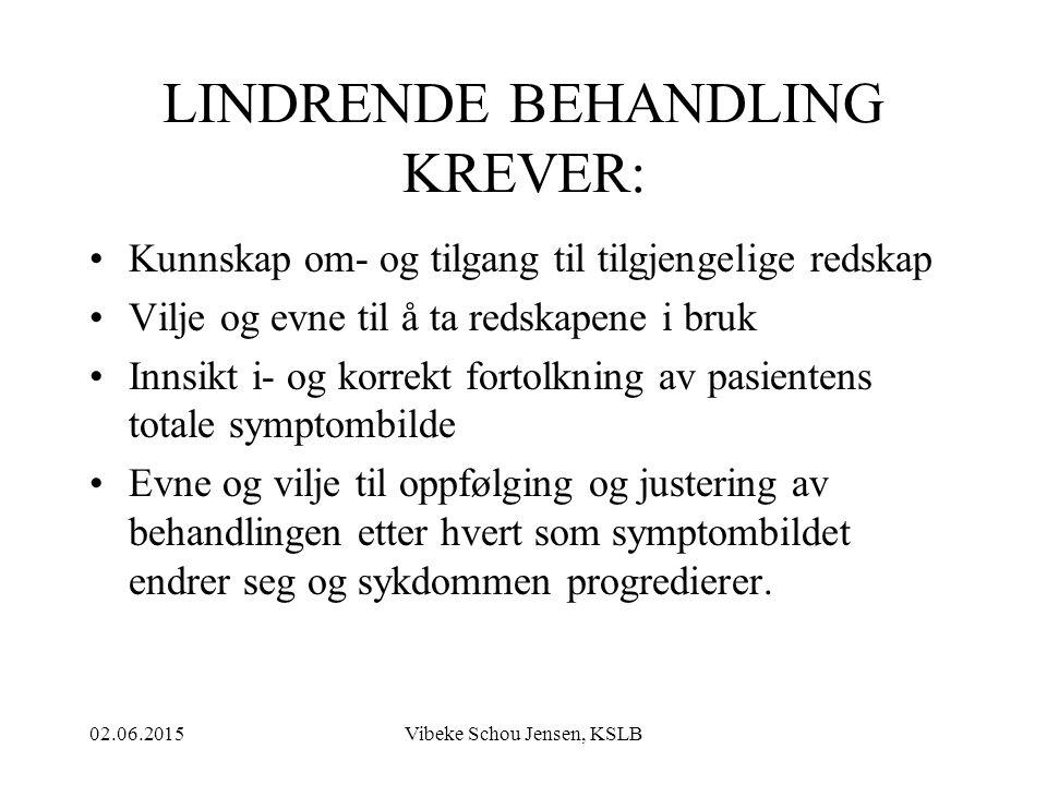LINDRENDE BEHANDLING KREVER: