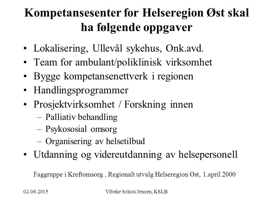 Kompetansesenter for Helseregion Øst skal ha følgende oppgaver
