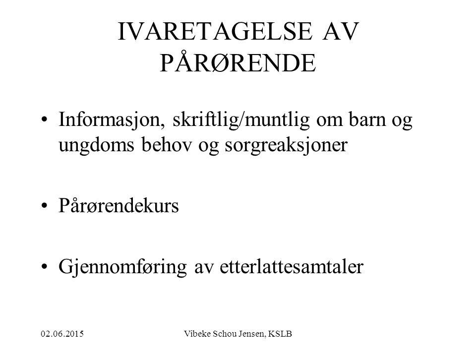 IVARETAGELSE AV PÅRØRENDE