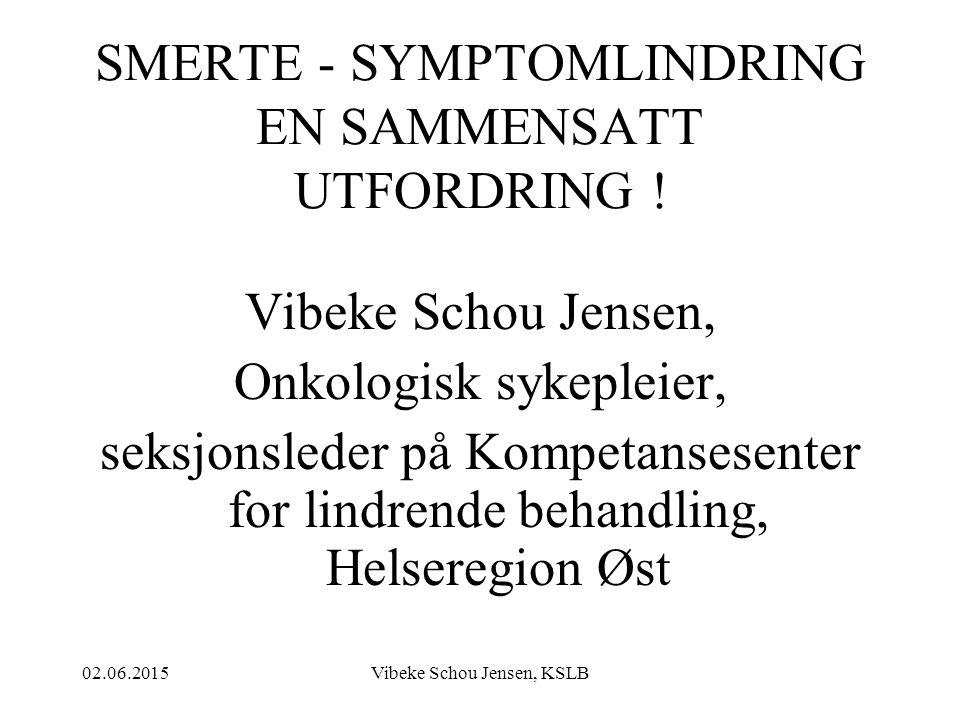 SMERTE - SYMPTOMLINDRING EN SAMMENSATT UTFORDRING !