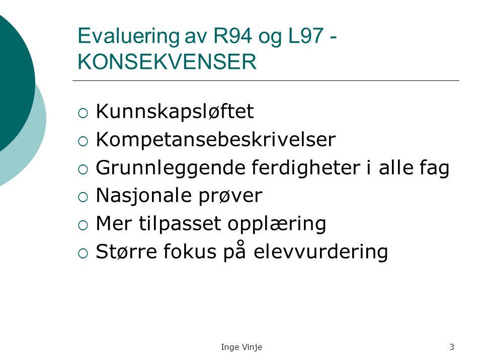 Evaluering av R94 og L97 - KONSEKVENSER