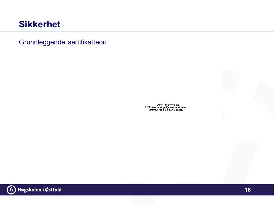 Sikkerhet Grunnleggende sertifikatteori