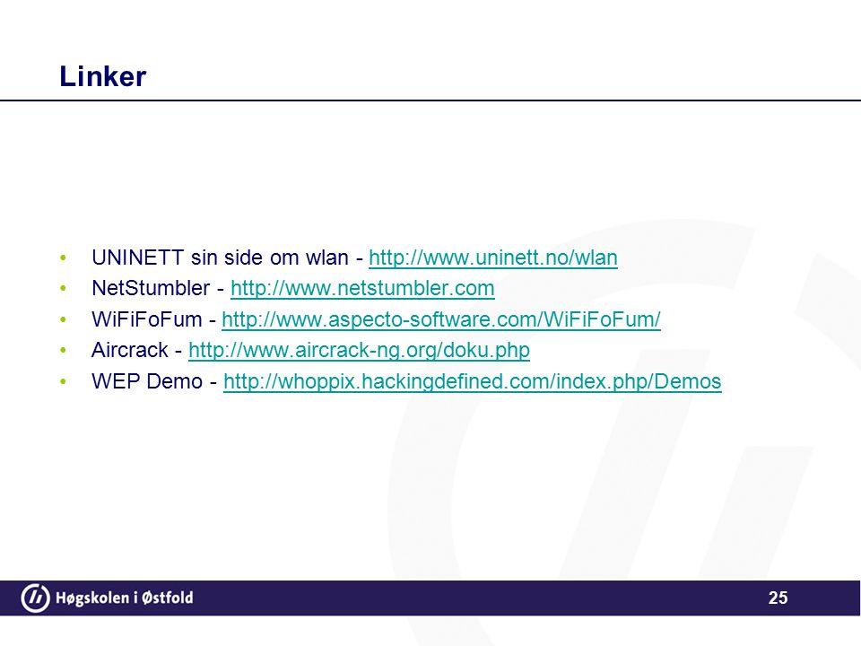 Linker UNINETT sin side om wlan - http://www.uninett.no/wlan