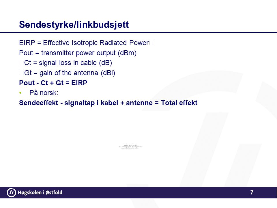 Sendestyrke/linkbudsjett