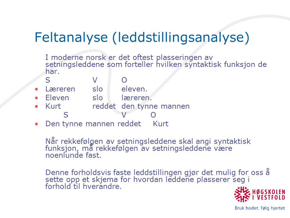Feltanalyse (leddstillingsanalyse)