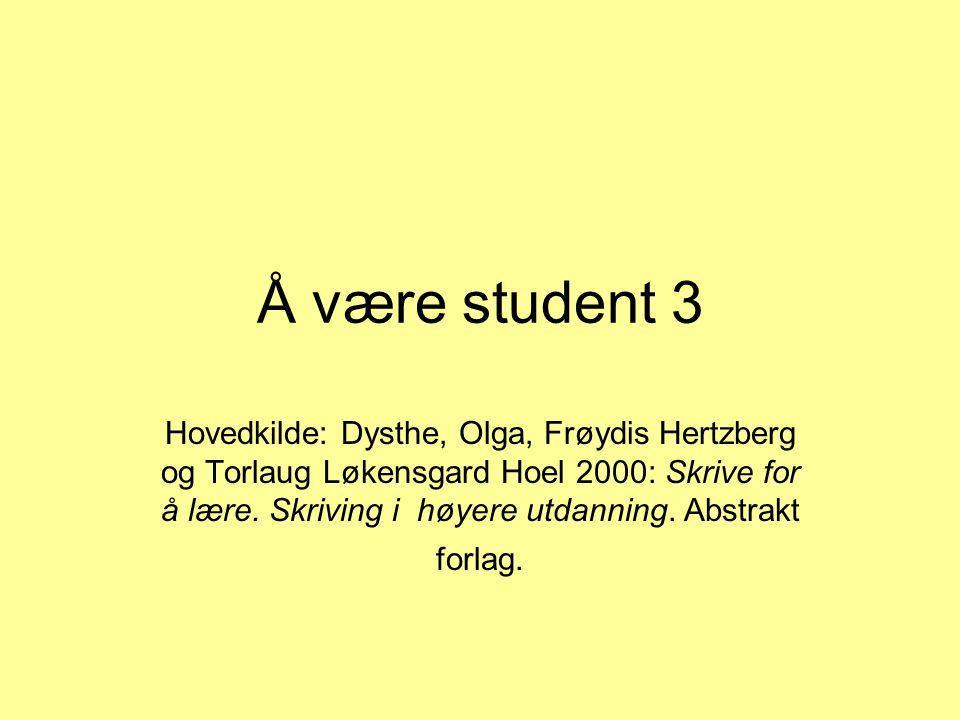 Å være student 3