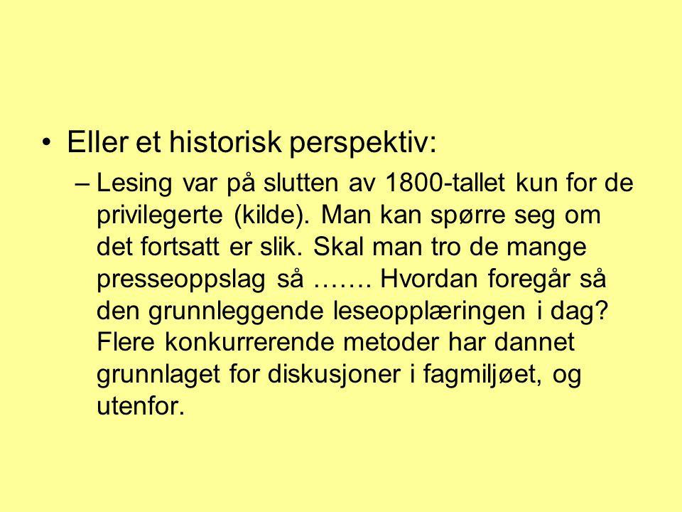 Eller et historisk perspektiv: