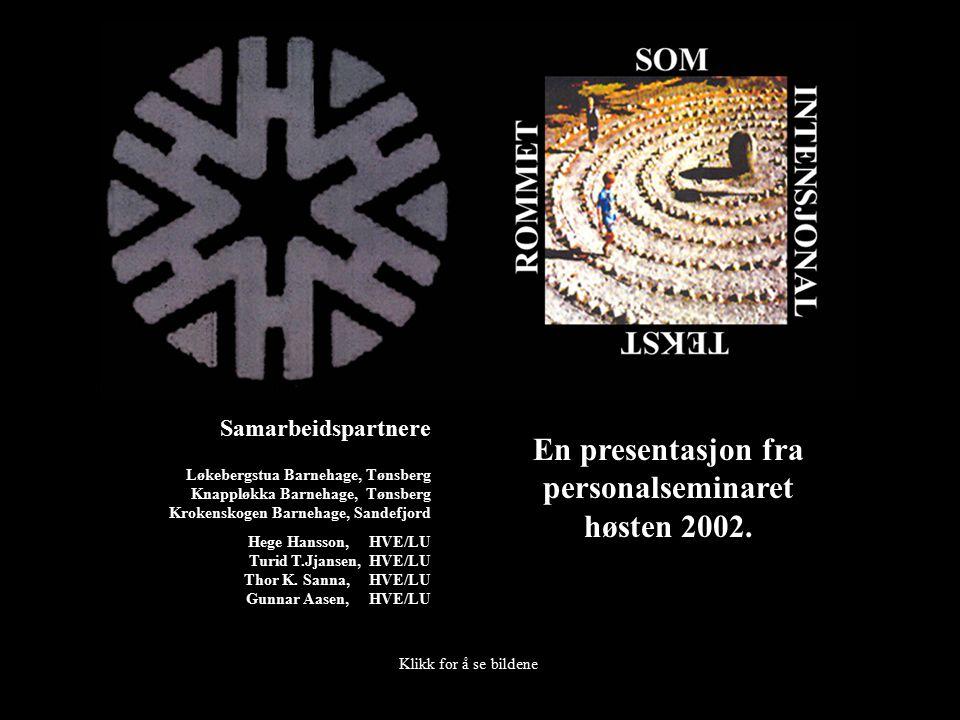 En presentasjon fra personalseminaret høsten 2002.
