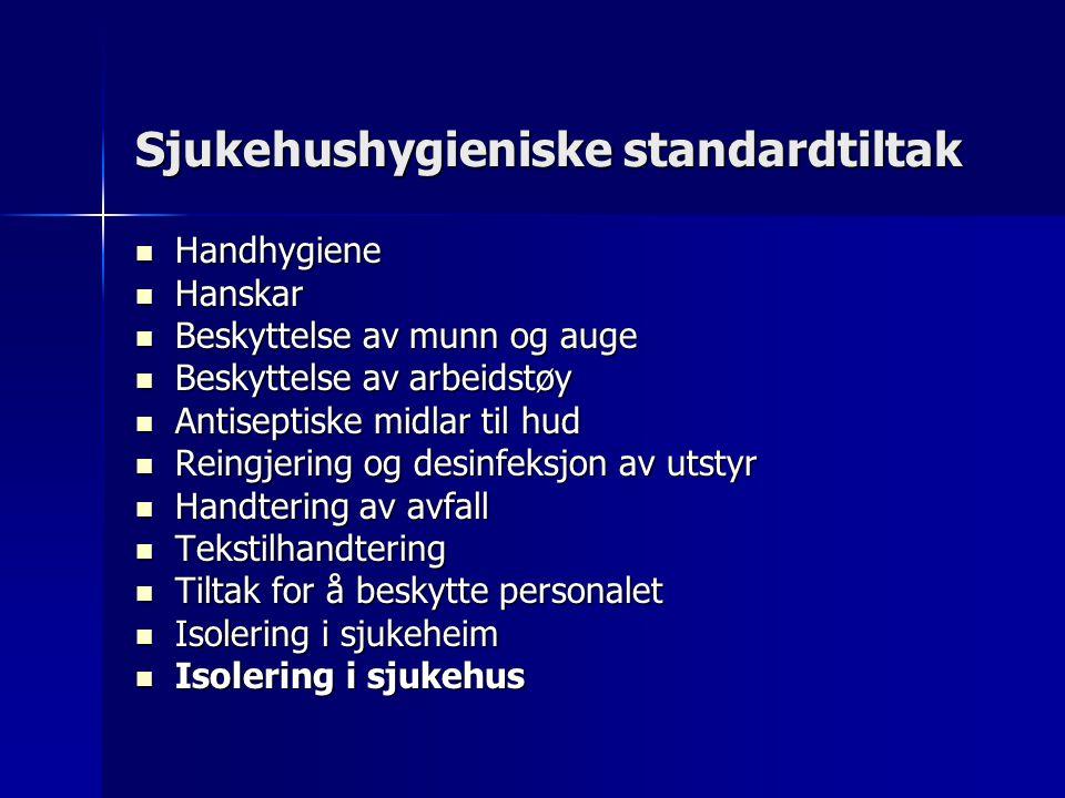 Sjukehushygieniske standardtiltak