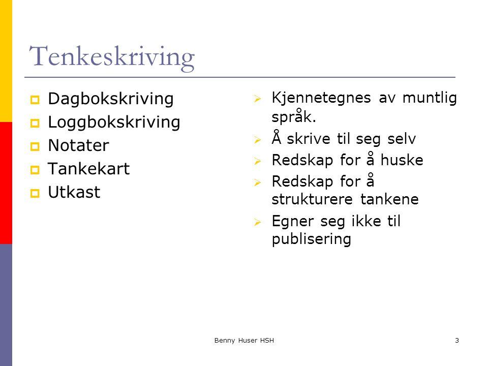 Tenkeskriving Dagbokskriving Loggbokskriving Notater Tankekart Utkast