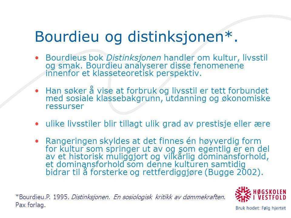 Bourdieu og distinksjonen*.
