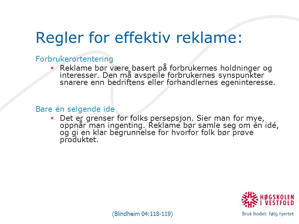 Regler for effektiv reklame: