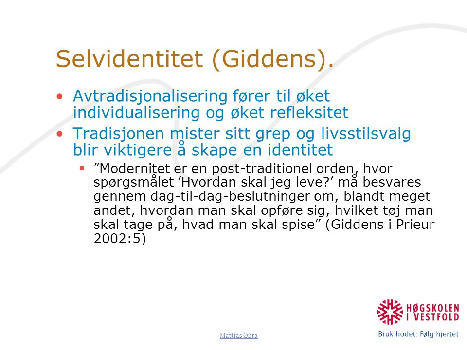 Selvidentitet (Giddens).