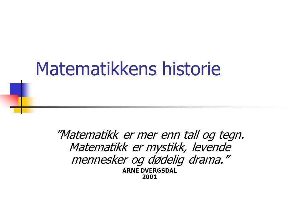 Matematikkens historie