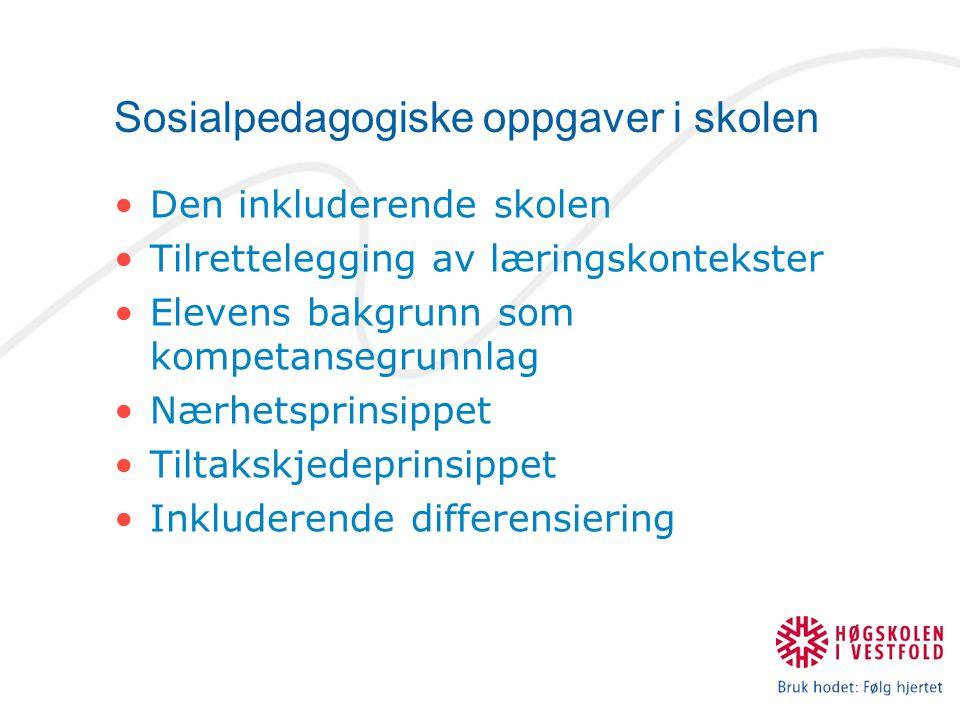 Sosialpedagogiske oppgaver i skolen