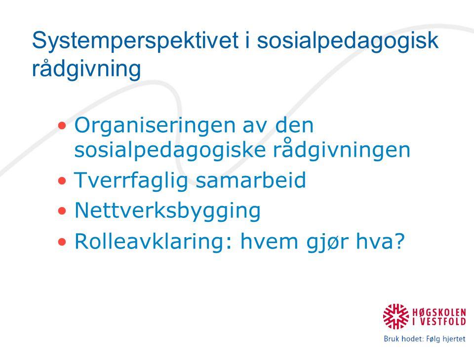 Systemperspektivet i sosialpedagogisk rådgivning
