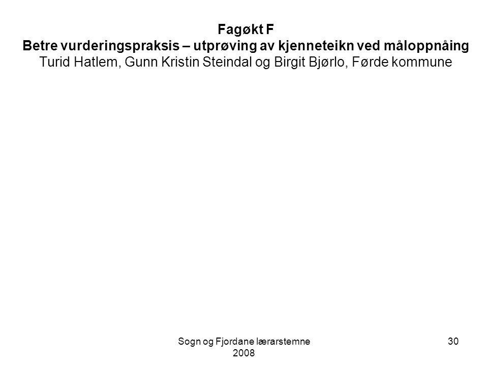 Sogn og Fjordane lærarstemne 2008