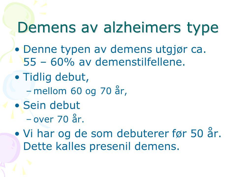 Demens av alzheimers type