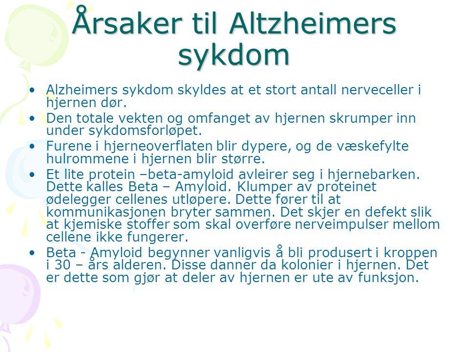 Årsaker til Altzheimers sykdom