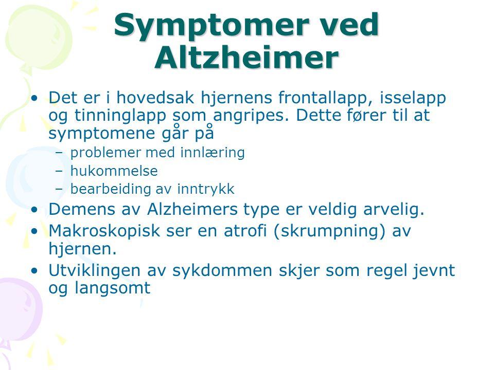 Symptomer ved Altzheimer