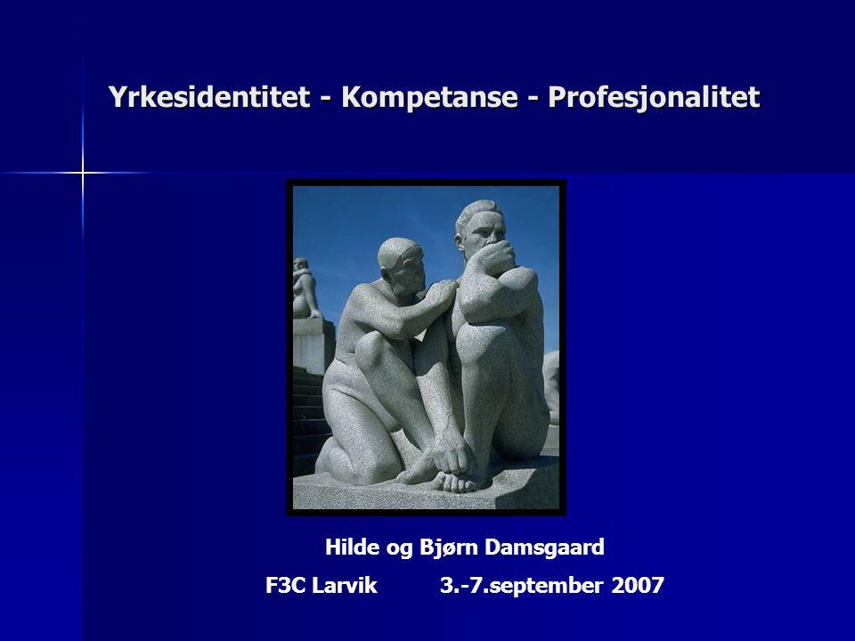 Yrkesidentitet - Kompetanse - Profesjonalitet