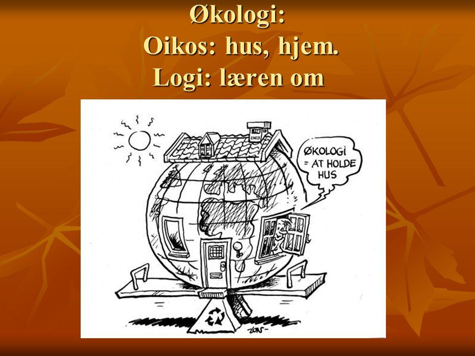 Økologi: Oikos: hus, hjem. Logi: læren om