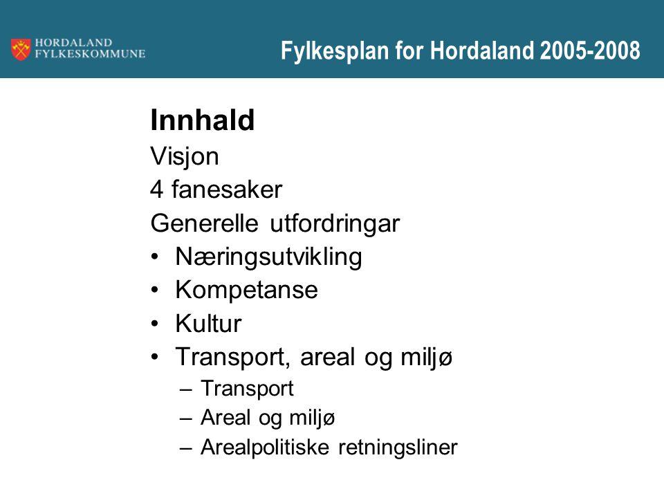 Fylkesplan for Hordaland 2005-2008