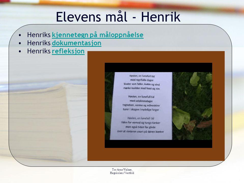 Elevens mål - Henrik Henriks kjennetegn på måloppnåelse