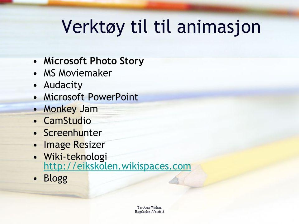 Verktøy til til animasjon