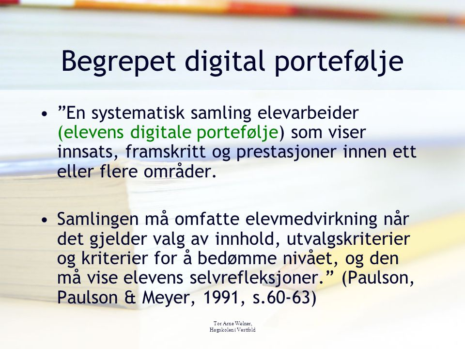Begrepet digital portefølje