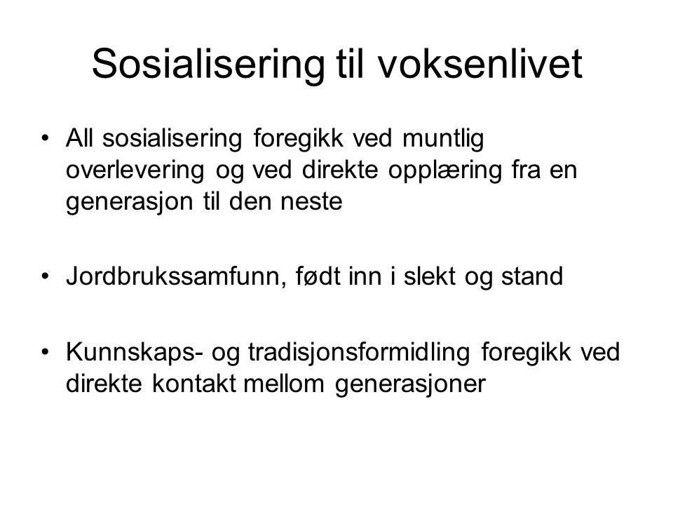 Sosialisering til voksenlivet