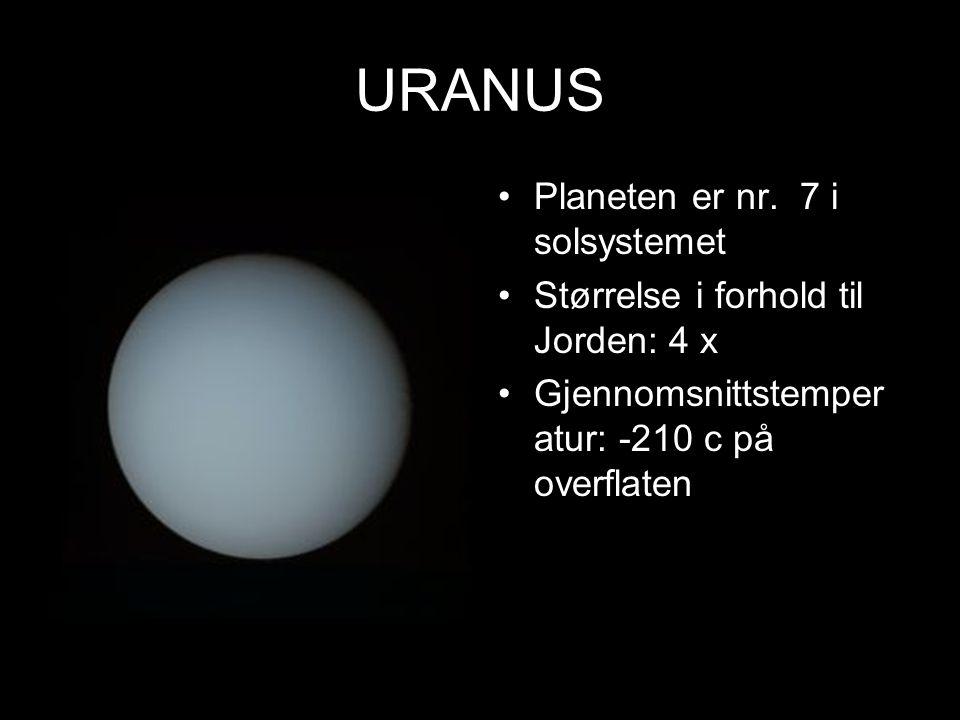 URANUS Planeten er nr. 7 i solsystemet