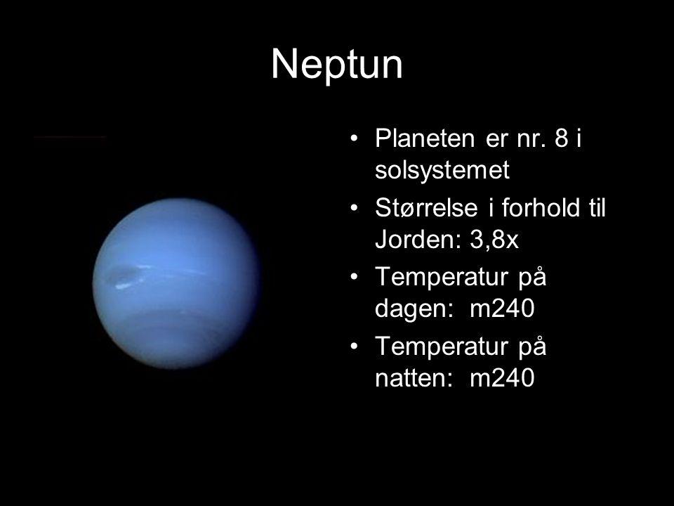Neptun Planeten er nr. 8 i solsystemet