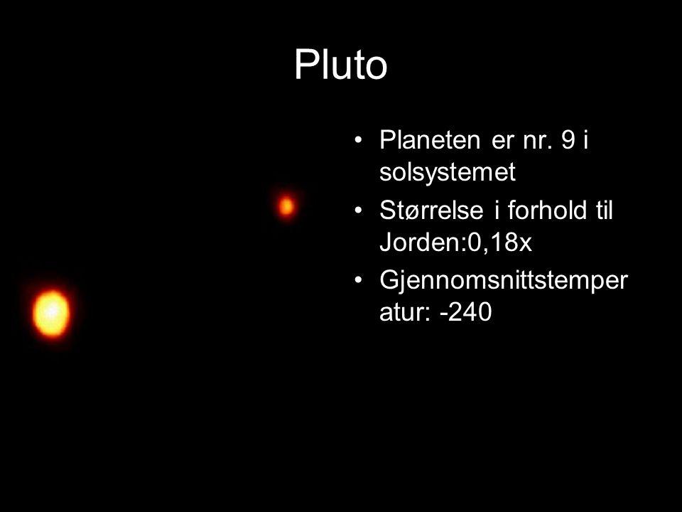 Pluto Planeten er nr. 9 i solsystemet