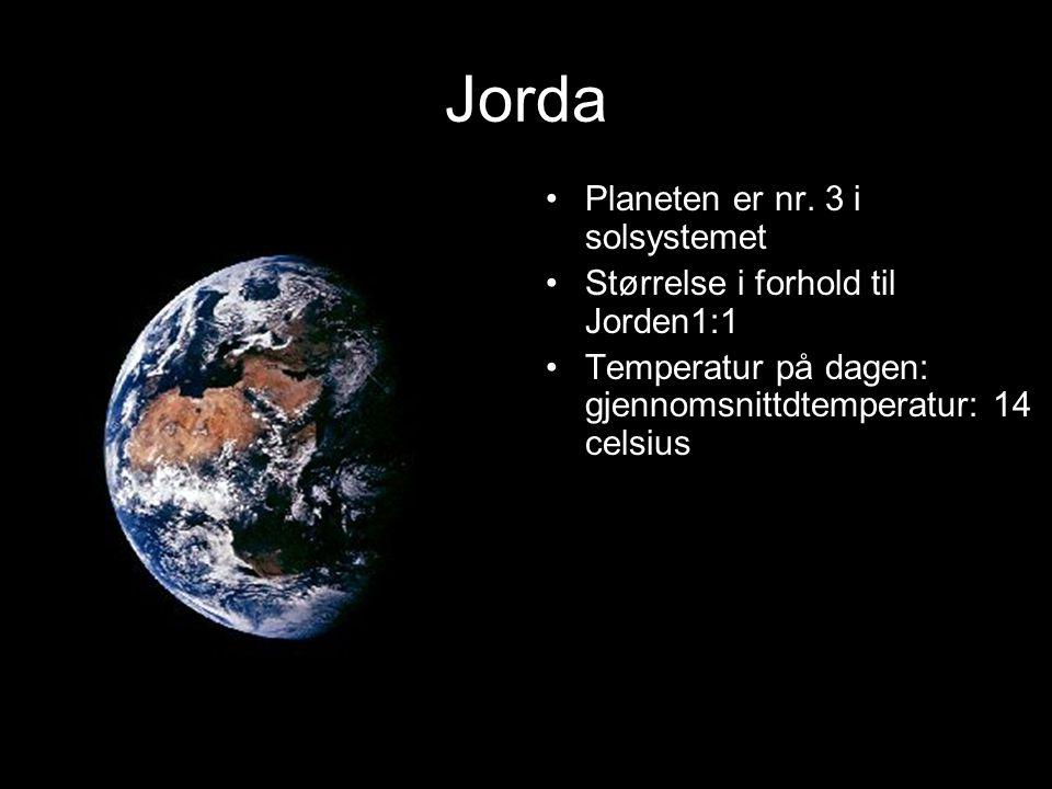 Jorda Planeten er nr. 3 i solsystemet