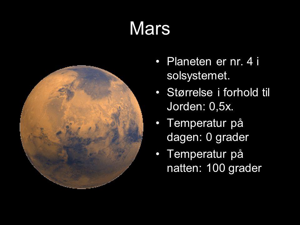 Mars Planeten er nr. 4 i solsystemet.