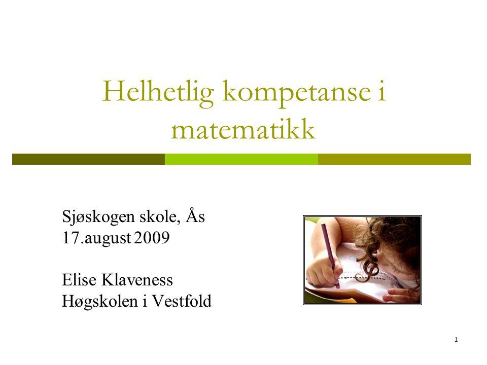 Helhetlig kompetanse i matematikk
