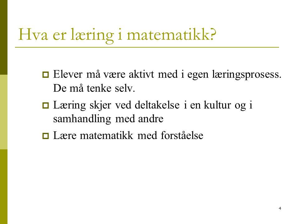 Hva er læring i matematikk