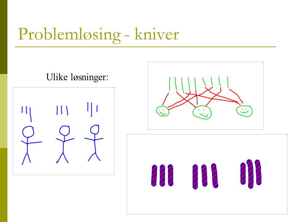 Problemløsing - kniver