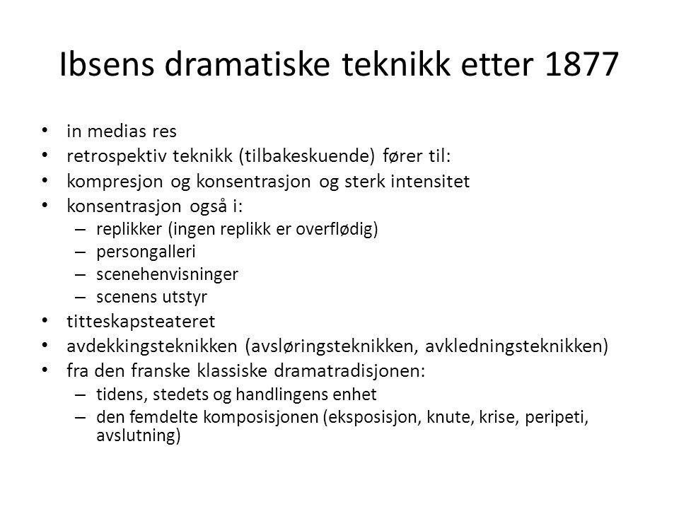 Ibsens dramatiske teknikk etter 1877