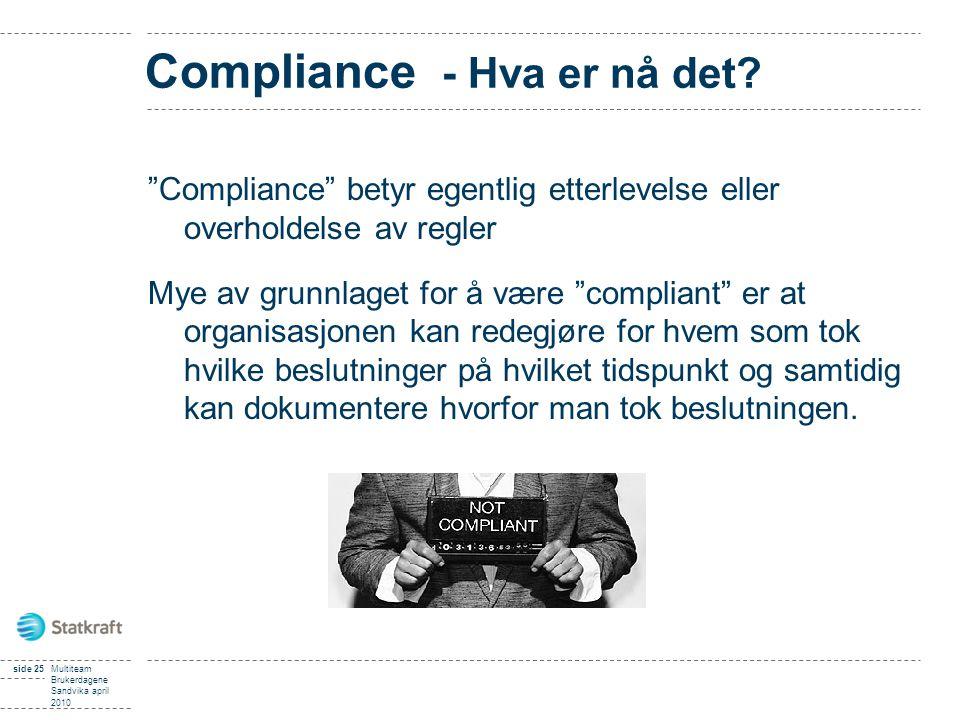 Compliance - Hva er nå det