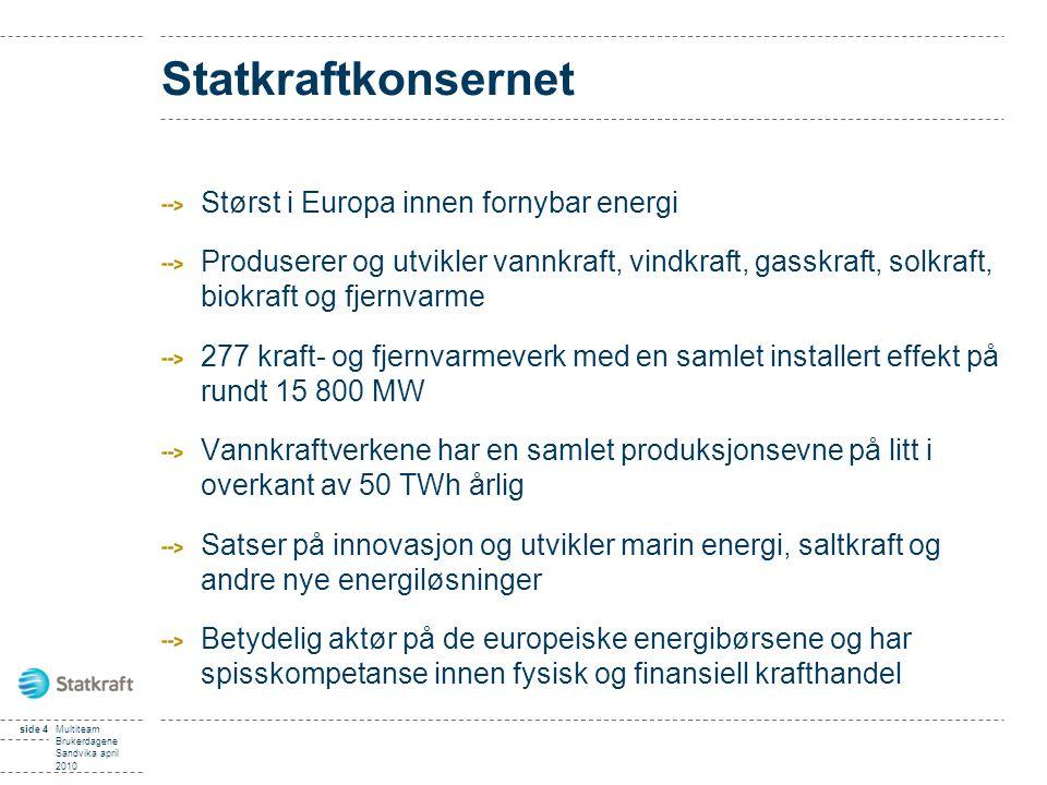 Statkraftkonsernet Størst i Europa innen fornybar energi