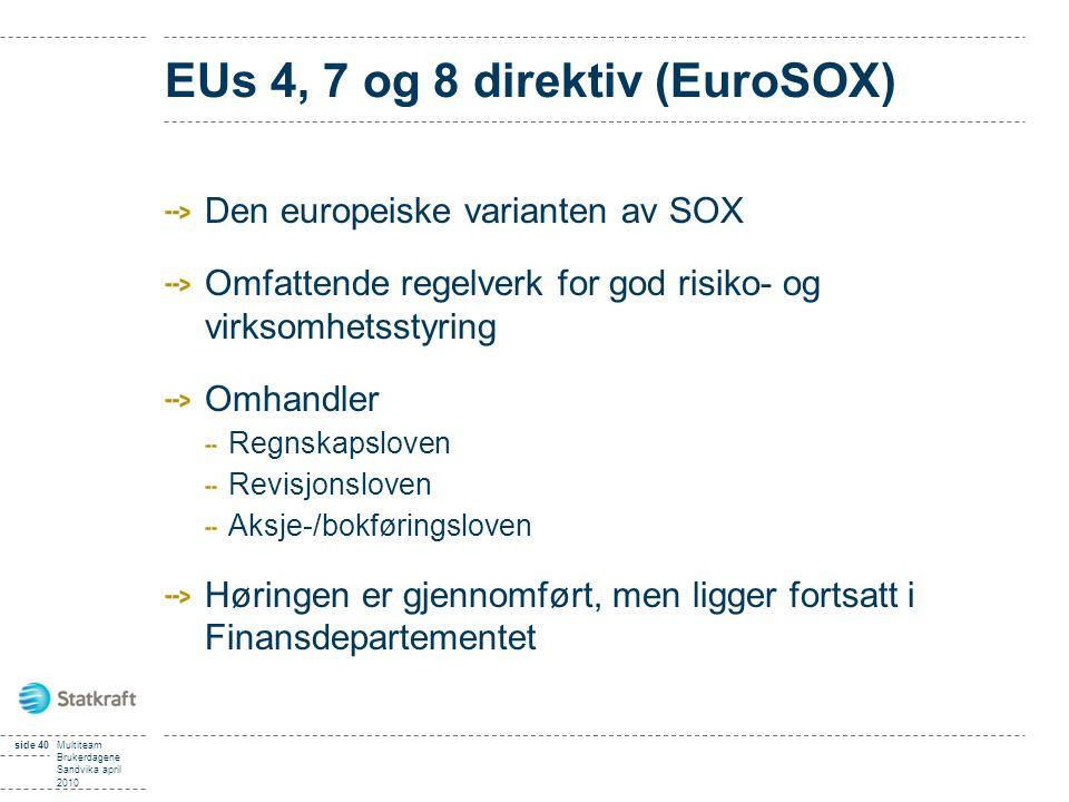 EUs 4, 7 og 8 direktiv (EuroSOX)