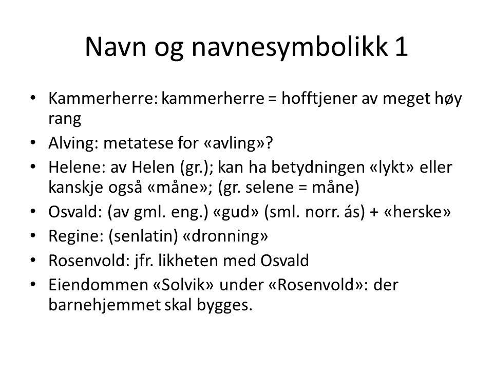 Navn og navnesymbolikk 1